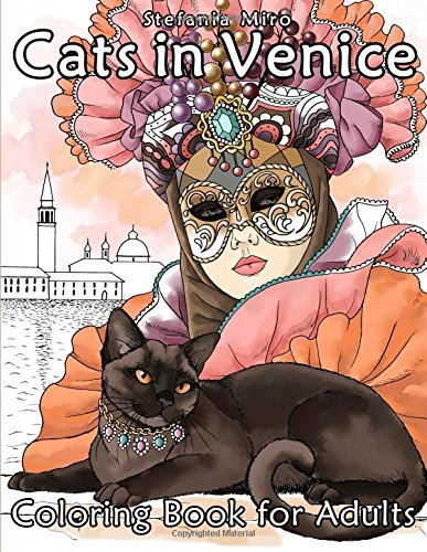 Download Cats in Venice: Coloring book for adults PDF