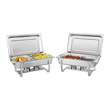 Royal Catering Chafing Dish Calentador Para Buffet Set RCCD-2.4GN-1 (2
