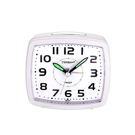 Yadelai Despertador Analógico de Viaje,Reloj de Alarma para Niños Pequeño Tamaño Simple con Pilas