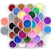 Elf Cat 45 Colors Holographic Cosmetic Festival Powder Sequins Craft Glitter for Arts Face Hair Body Nail (45 Colors)