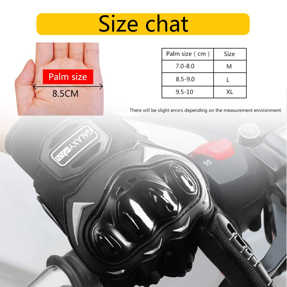 Galaxyman Full Finger Gloves for Motorcycle Motorbike Camping Work Sports Gloves L