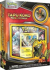 Amazon.com: Juego de cartas Pokemon TCG Tapu Koko Pin ...