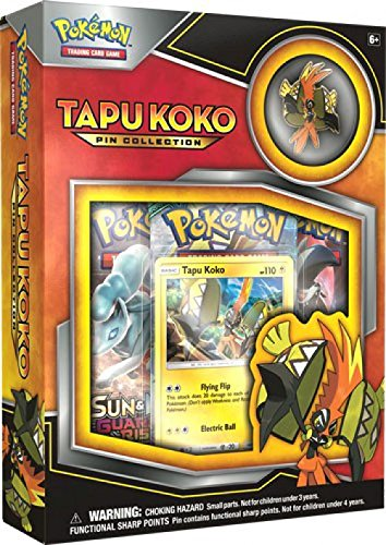 dfe6c5639 Amazon.com: Pokemon TCG Tapu Koko Pin Collection Card Game: Toys & Games