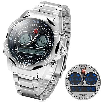 T5 * * * Watch Analógico * Digital Reloj maciza Sports Time * 2 zonas horarias