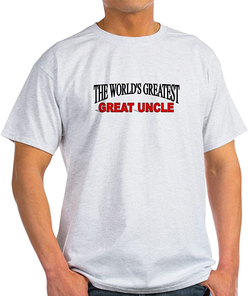 CafePress The World's Greatest Great Uncle Light T Shirt 100% Cotton T-Shirt Ash Grey
