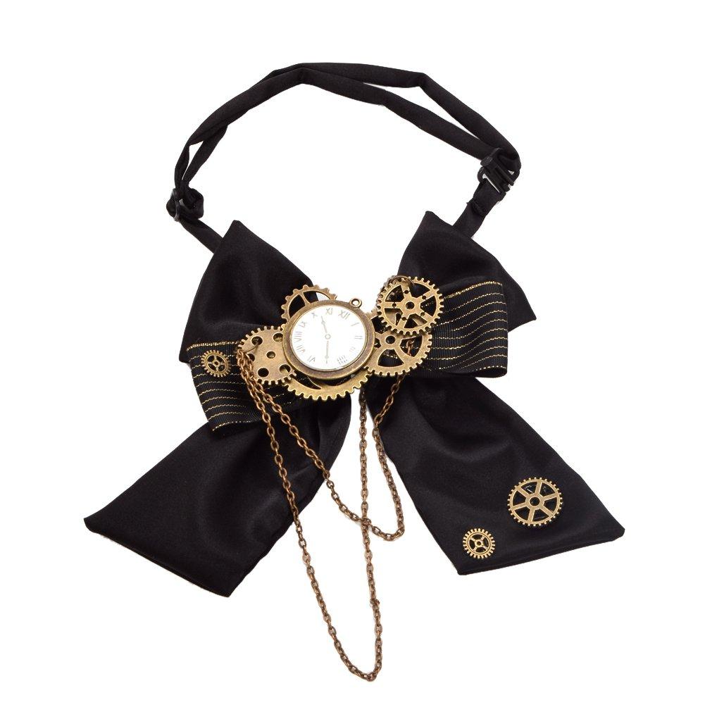 BLESSUME Unisex Gothic Gear Bowtie Vintage Steampunk Viktorianischen Fliege Krawatte (Mehrfarbig 2) BS-1114