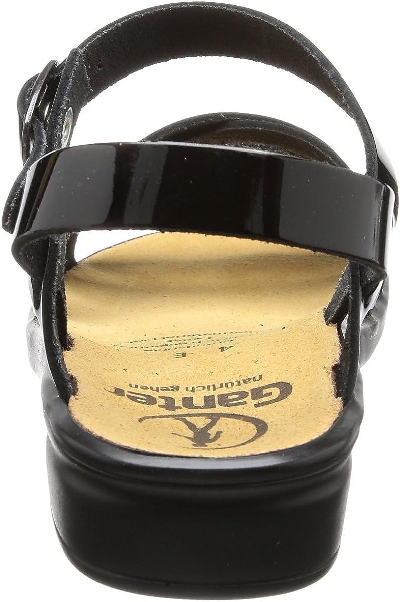Ganter 5-202814-01000, Sandales Compensées Femme Noir Schwarz 0100