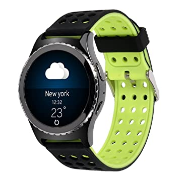 Lwsengme Galaxy Watch(42mm)/Gear S2 Classic (SM-R732) Smart Fitness Watch Band,20mm Silicone Compatible with Samsung Galaxy Watch Active 2/Gear S2 ...