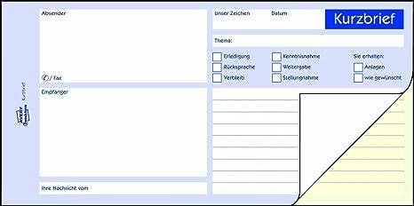 Avery Zweckform 1741 Kurzbrief 13 A4 Selbstdurchschreibend 2x40