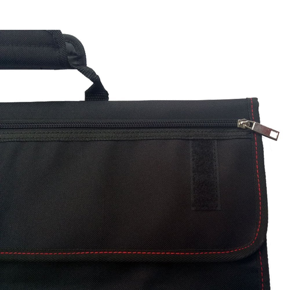 Waterproof Chef's Knife Roll Bag Multi Purpose Canvas Knife Roll Bag Pouch with Handle Strap HGJ03-R-US by Hersent (Image #5)
