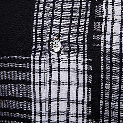 Hiver En Poche Boutonné Hommes Blouse Manches Chemises Chemisier Top Pour Treillis Et Printemps Décontractée Noir Longues De Carreaux Peinture Piebo À fpHxzFX