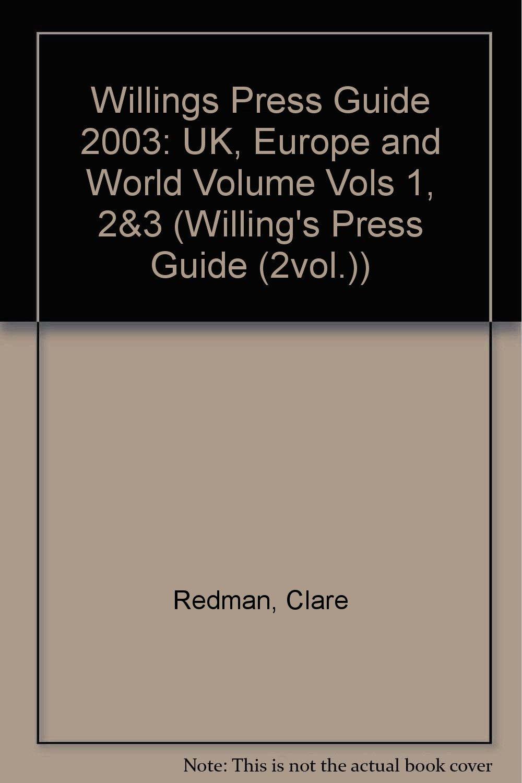 Download Willings Press Guide 2004 (Vols 1, 2&3) PDF