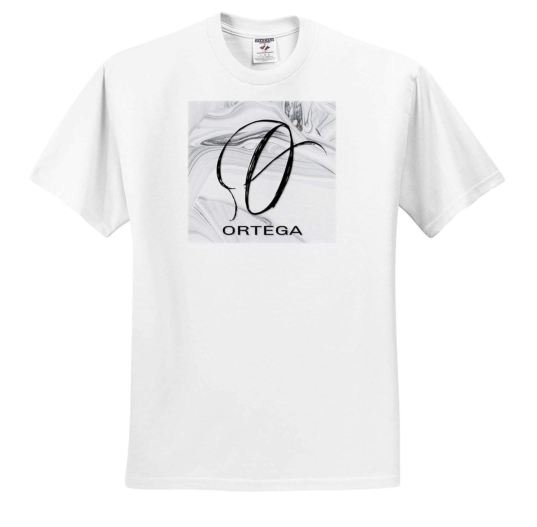 T-Shirts 3dRose BrooklynMeme Monograms Ortega White Marble Monogram O