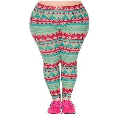 3acb08dd79ef75 CHIC DIARY Damen bunt Sport Strumpfhose Leggings mit muster Fitness ...