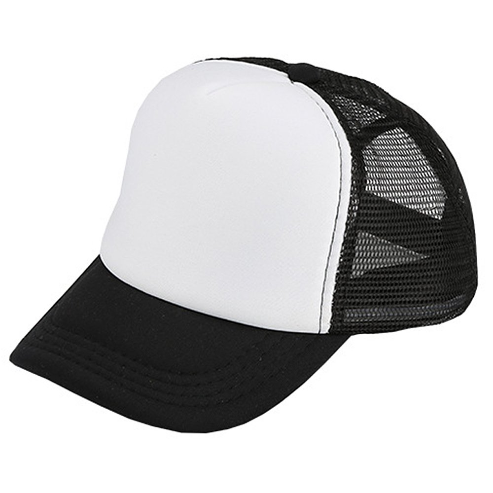 Unisex Adjustable Casual Sport Baseball Breathable Blank Mesh Sun Protection Trucker Hat Peaked Hat Cap Black Gosear TRTAZ11A