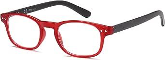 Newvision® NV0183 leesbril, krasbestendige glazen, mat en licht frame, leesbril voor dames en heren, stangen met veerscharnier van metaal, NV0183