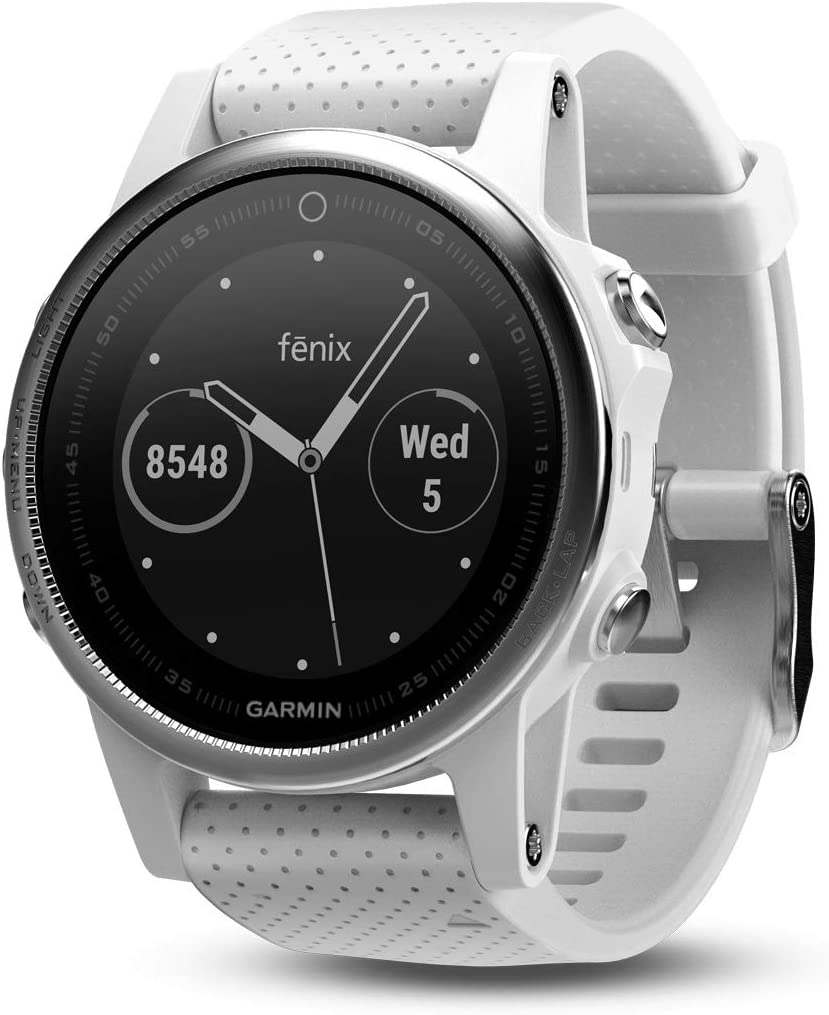 Garmin fēnix 5s, Premium and Rugged Smaller-Sized Multisport GPS Smartwatch, White, 42mm (010-01685-00)