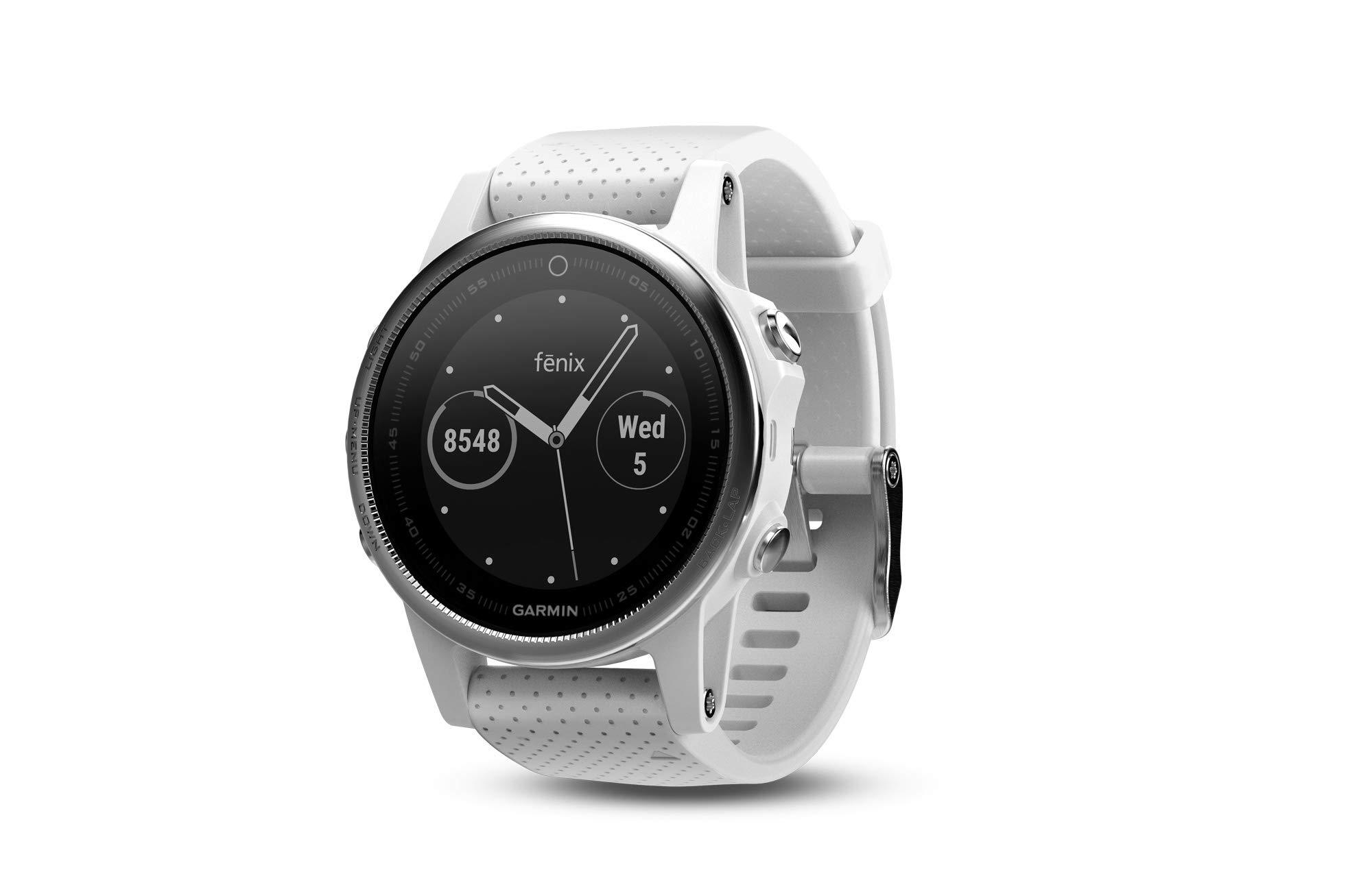 Garmin fēnix 5S, Premium and Rugged Smaller-Sized Multisport GPS Smartwatch, White, (Renewed)