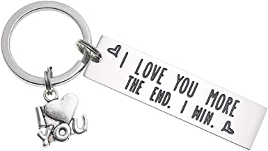 Most The End I Win Letter Keyring For Couple Letter Key Chain I Love You More