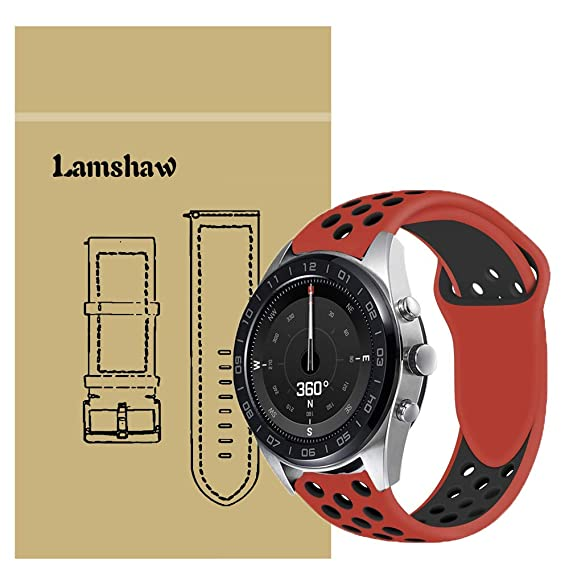 Amazon.com: for LG Watch W7 Band, Lamshaw Silicone Sport ...