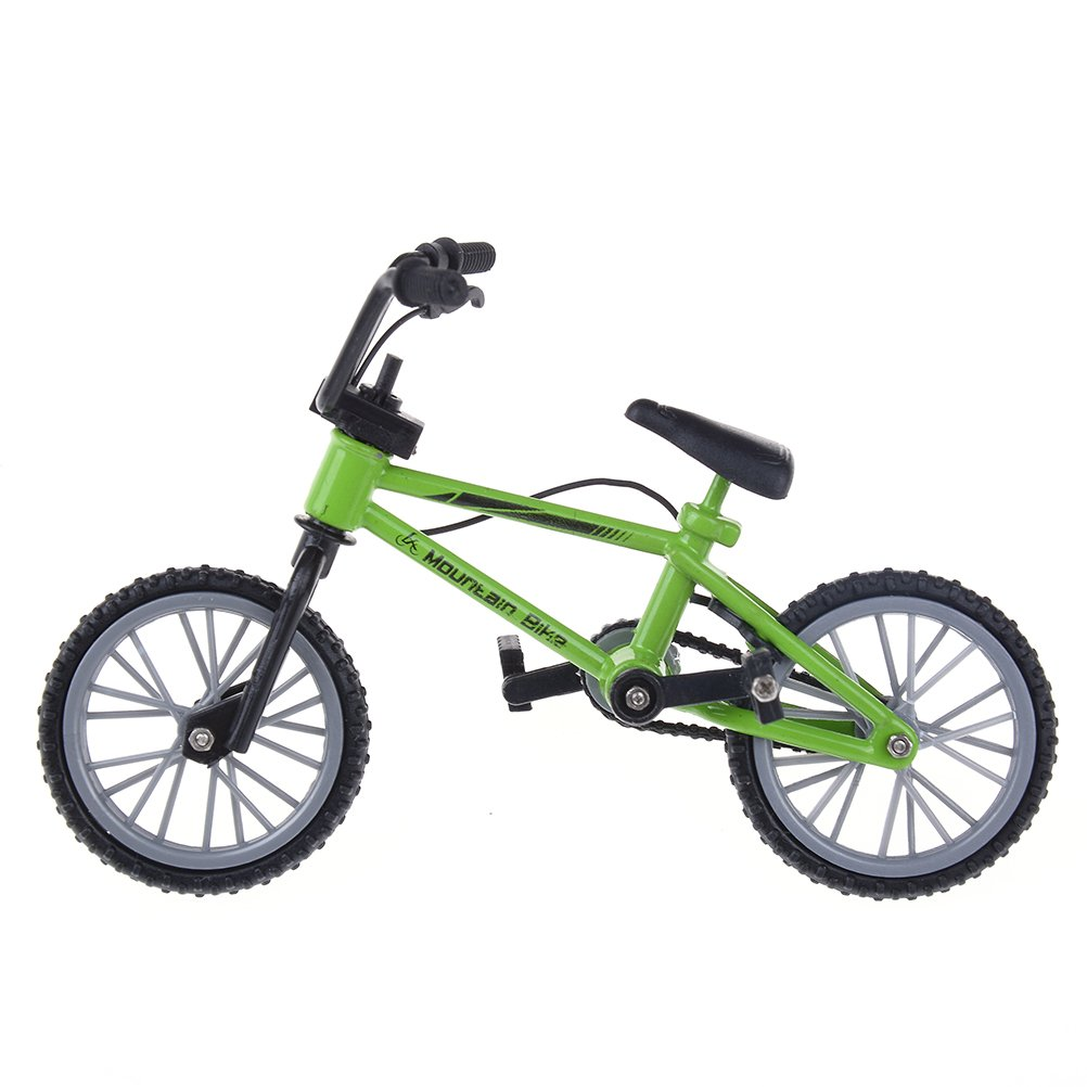 WENHAI 1 Pcs Finger Mountain Bike Toy Realistic Bicycle Model Best Gift for Children (Yellow1)