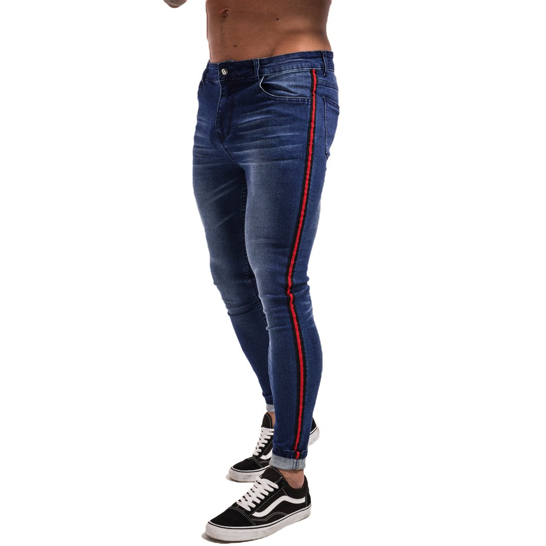 d66b359366e0 The Jeans Are Made of Cotton and Spandex, Which Made Them Very Comfortable  and Stretchy You Will Hardly Find These Jeans That Are Tight Around The  Ankle ...