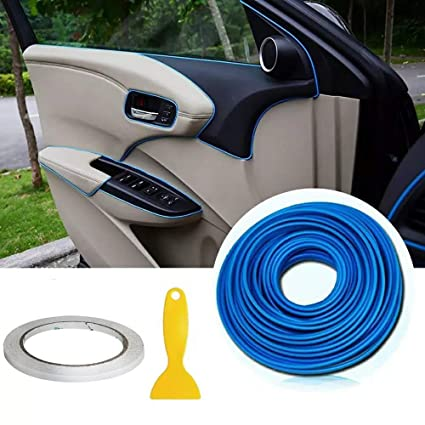 Tiras de molduras interiores para autos - AUTOMAN Tiras de molduras para autos de decoración de 32 pies con herramienta de instalación Adorno de ...