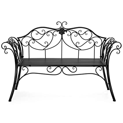 Pleasing Amazon Com Bs Vintage Garden Bench Love Seat Outdoor For 2 Bralicious Painted Fabric Chair Ideas Braliciousco