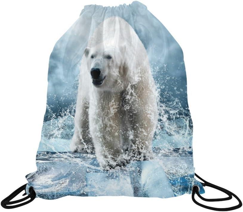 INTERESTPRINT Polar Bear Animals Travel Duffel Bag Workout Duffel Bag