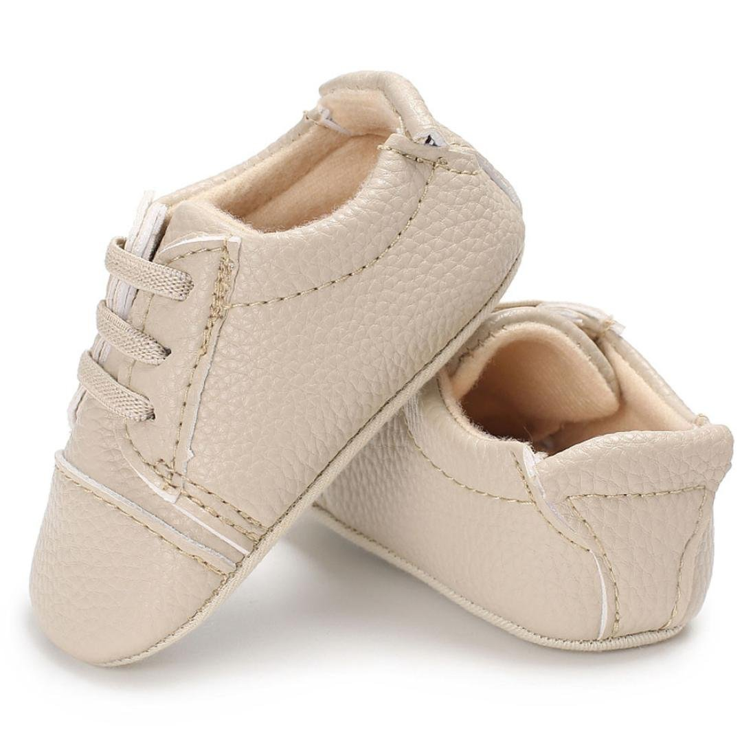 Baby Girl boy Soft Sole Crib Toddler Newborn Lace UP Shoes