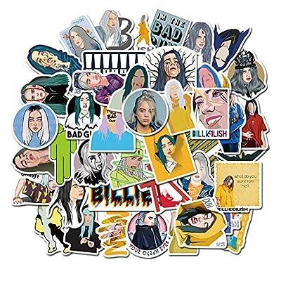kikoo Billie Eilish Creative Stickers, 50pcs PVC Guitar Travel Case Sticker Door Bicycle Stickers(H01): Kitchen & Dining