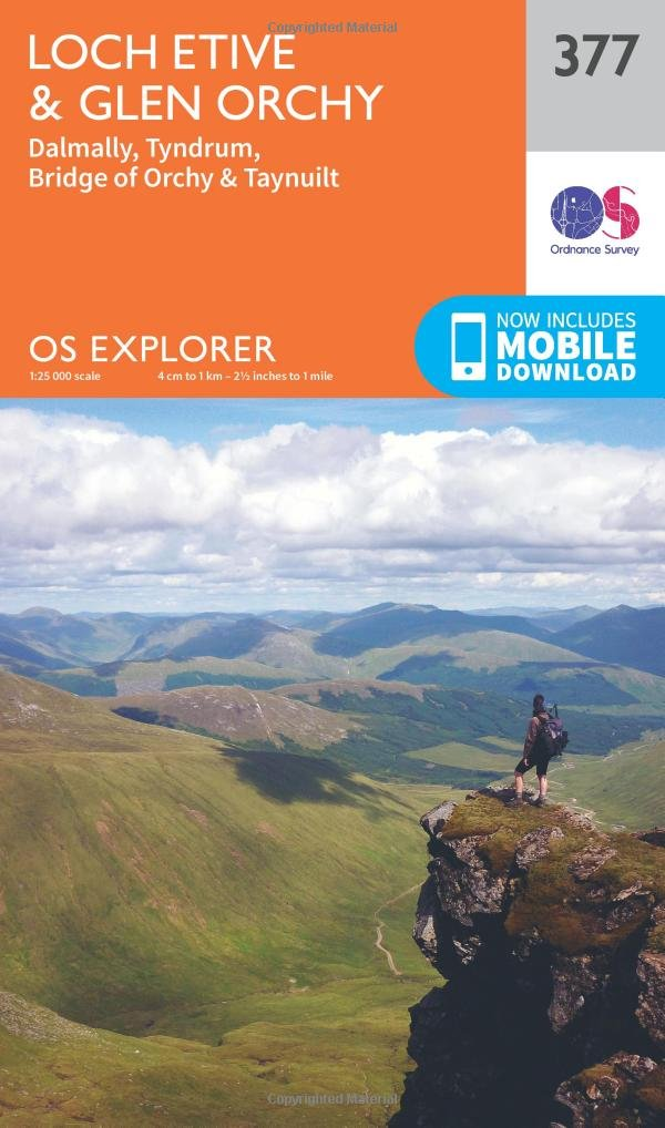 OS Explorer Map 377 Loch Etive and Glen Orchy OS Explorer