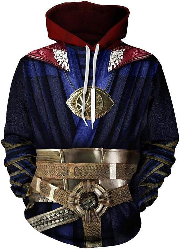 Super Hero Hoodie Creative Pullover Sweater Halloween Costume