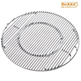 Bar.b.q.s Gourmet BBQ System Hinged Cooking Grate for Weber 22.5 Inch Charcoal Grill