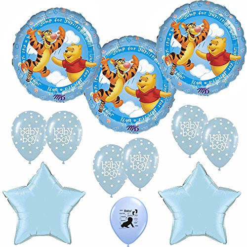 Anagram winnie the pooh its a boy baby shower balloons for Baby boy shower decoration kits