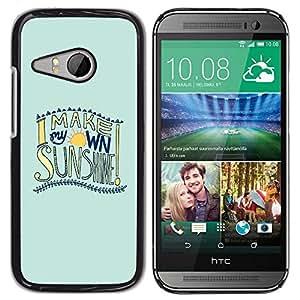 Be Good Phone Accessory // Dura Cáscara cubierta Protectora Caso Carcasa Funda de Protección para HTC ONE MINI 2 / M8 MINI // Summer Surf Fun Sunshine Text Quote