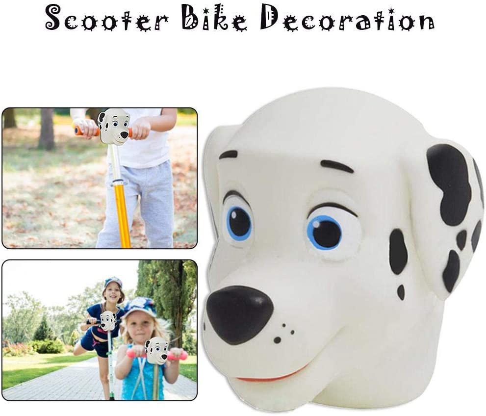 Owlhouse Kids Cartoon Dog Head Scooter Accessories Toddler Gifts Children Girls Miniature Mini T-bar Kick Scooter Bicycle Decoration
