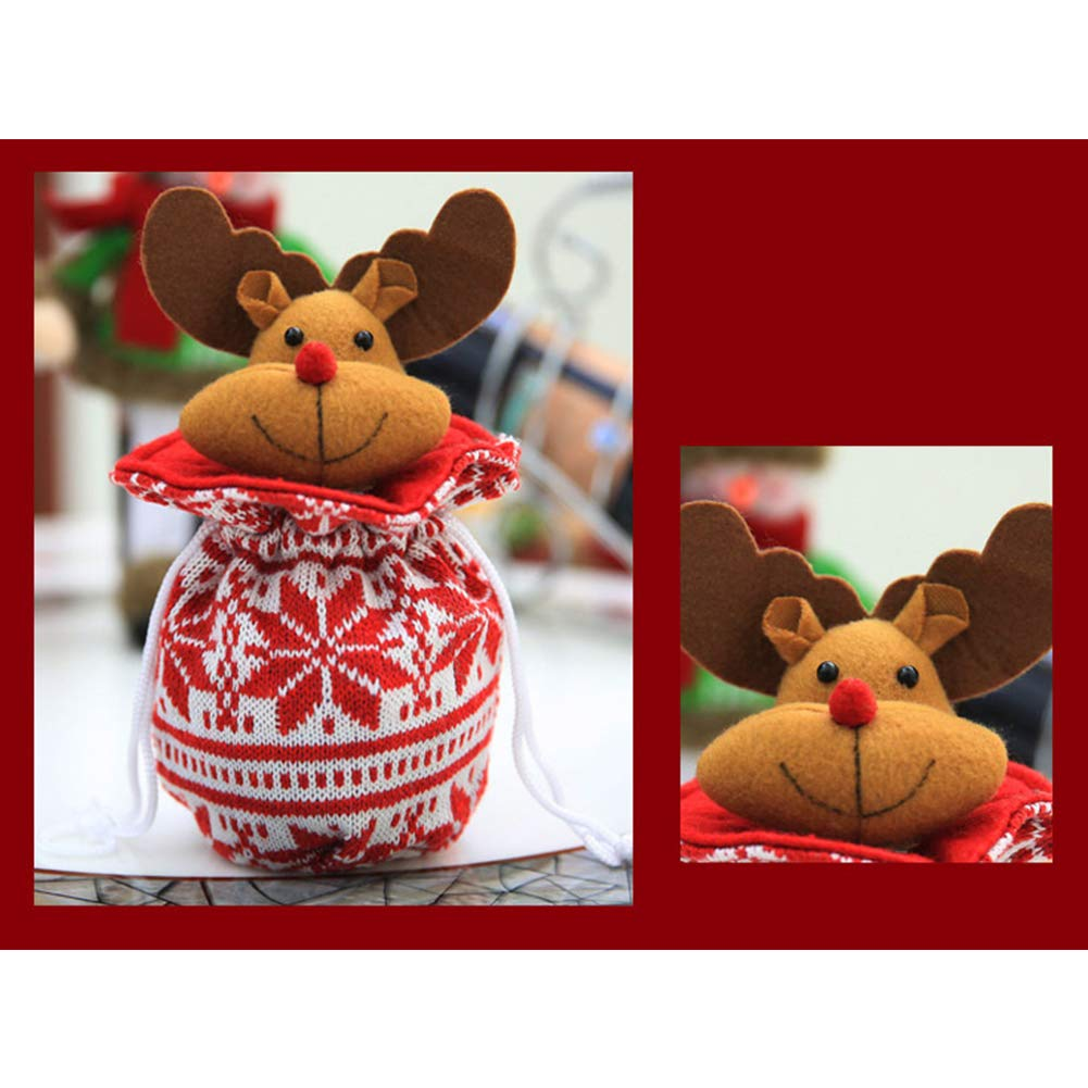 YaptheS Christmas Apple Bag Cute Elk Doll Knitted Candy Cookie Bag Pendant Kids Xmas Gift Party Decoration Christmas Gift by YaptheS (Image #3)