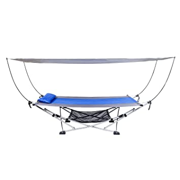amazon     mac sports portable fold up hammock with removable canopy  u0026 carry case   garden  u0026 outdoor amazon     mac sports portable fold up hammock with removable      rh   amazon
