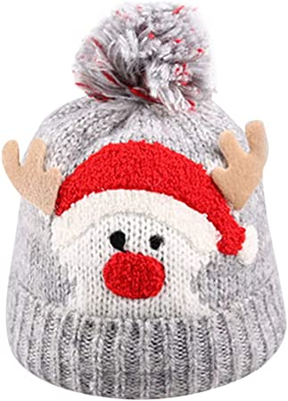 Kids Girl Boy Baby Infant Winter Warm Hat Crochet Knit Christmas Beanie Cap