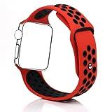 BillionGroup Silikon Armband Sportarmband Ersatzarmband Wrist Armband für iWatch Apple Watch Series 1/2,42mm&38mm