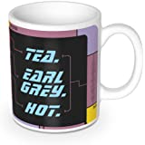 getDigital Tea. Earl Grey. Hot. Coffee and Tea Mug - BPA Free Ceramic Cup Inspired by the Replicator Interface from a classic