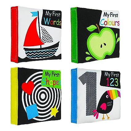 Livre D Eveil Bebe Baby Livre A Surprise Premier Livre En Tissu Des Decouvertes Noir Blanc Illumination Anglais Precoce Education Puzzle Bebe Livre