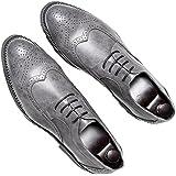Chaussures de Ville pour Hommes Neuves Cuir PU à Lacets Bout D'affaires Oxfords Chaussures