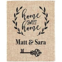 Couples Wedding or Housewarming Gift Burlap Print House Warming Gift New Home Housewarming Gift Custom Address Sign New Homeowner Real Estate Closing Gifts Agent