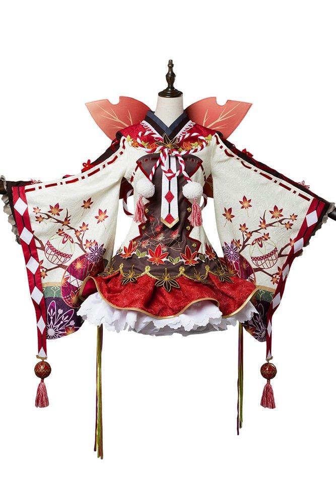 CosplaySky Love Live ! Aqours Maple Leafs Ver Kimono Dress Dia Kurosawa Costume Medium