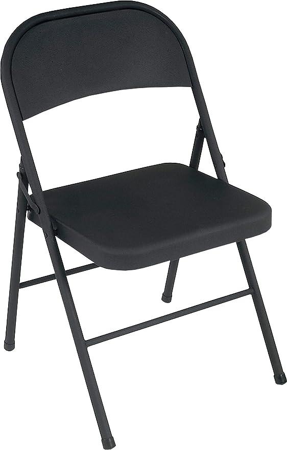 Cosco Black Steel Folding Chair 4 Pack Furniture Decor