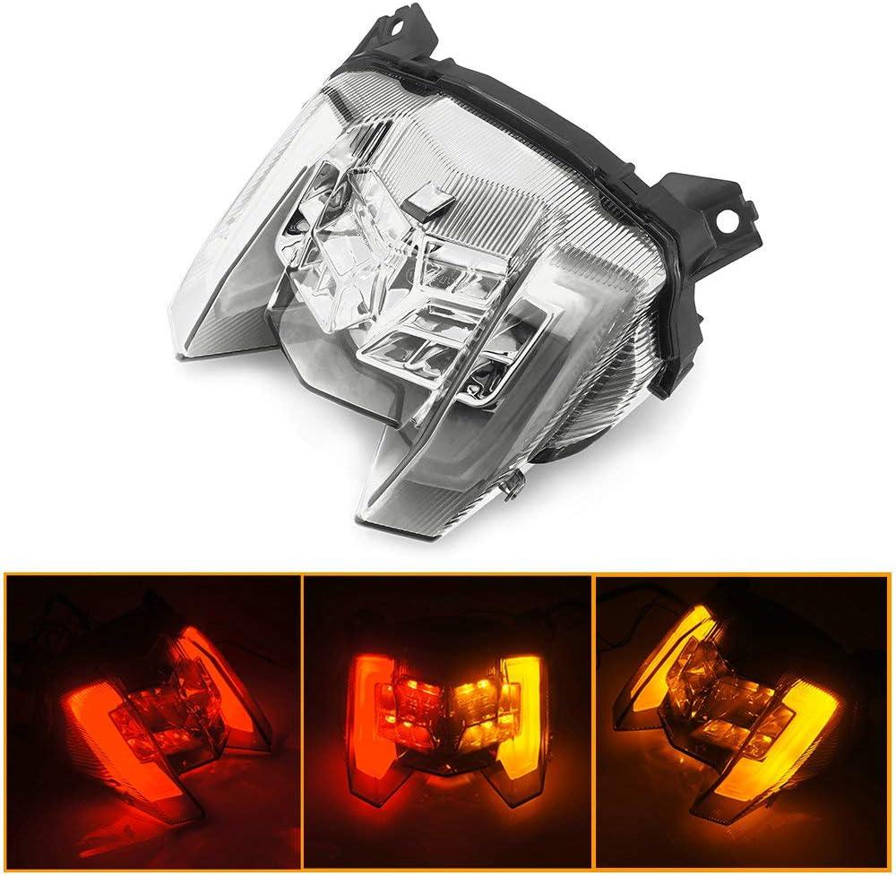 Black QIDIAN Motorcycle LED Brake Tail Light Turn Signal Lamp Rear Indicator Lamp for Yamaha MT09 FZ09 MT-09 FZ-09 2017-2020 Accessories