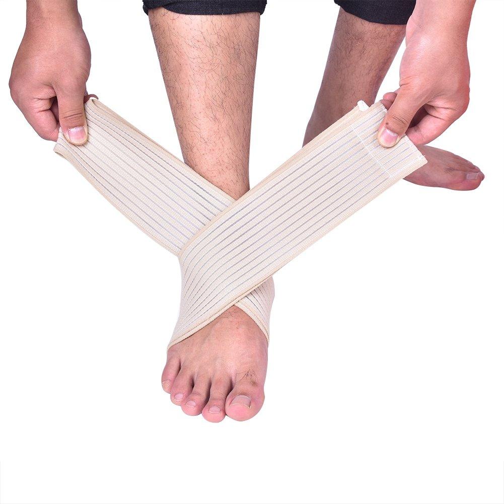 Delamanスポーツ保護用ガード圧縮調節可能な足首プロテクター膝パッド足ケアナイロンサポートブレース B07CZC5DRT
