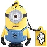 Tribe FD021405 Minion Dispicable Me Pendrive Figure 8GB USB Flash Drive 2.0 Memory Stick Data Storage, Keyholder Keyring - Carl (Yellow)